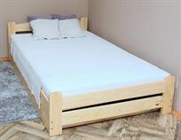 dřevěná jednolůžková postel s úložným prostorem Elegant chalup