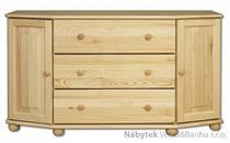 dřevěná komoda, prádelník z masivního dřeva borovice KD131 pacyg