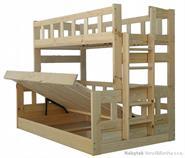 dřevěná patrová postel z masivu, palanda Midas chalup