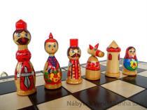 dřevěné šachy umělecké BABUSZKI 137 mad