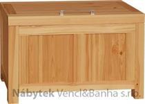 moderní dřevěná komoda, prádelník z masivního dřeva borovice drewfilip DEL SOL skrzynia 7