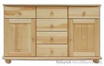 dřevěná komoda, prádelník z masivního dřeva borovice KD136 pacyg