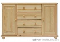 dřevěná komoda, prádelník z masivního dřeva borovice KD122 pacyg