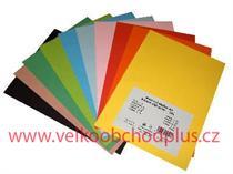 školní barevný papír, karton A4, 160 g/m2, cena za 10 ks