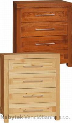 moderní dřevěná komoda, prádelník z masivního dřeva borovice drewfilip DEL SOL 19