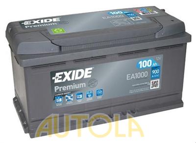 Autobaterie Exide Premium 12V, 100Ah, 900A
