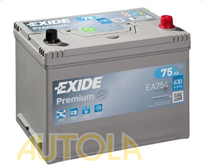 Autobaterie Exide Premium 12V, 75Ah, 630A