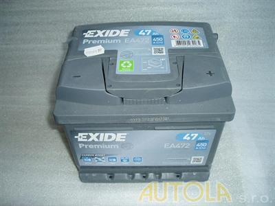 Autobaterie Exide Premium 12V, 47Ah, 450A,