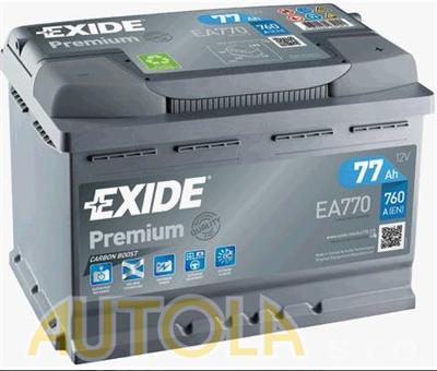 Autobaterie Exide Premium 12V, 77Ah, 760A