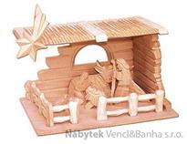 dřevěný vánoční dřevěný betlém
