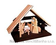 dřevěný vánoční dřevěný betlém  drewfilip 85