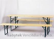 dřevěný zahradní nábytek pivní set Bawaria 200x50 skladem