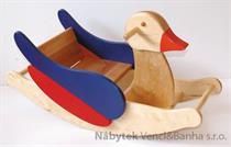 dětská dřevěná houpací kačenka barevná NK10A elm