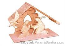 dřevěný vánoční dřevěný betlém  drewfilip 83