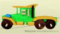 dekorace dětský věšák autíčko met 26500