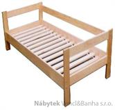 dřevěná dvojlůžková postel z masivního dřeva Relaks chalup