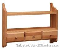 dřevěná závěsná polička z masivního dřeva borovice drewfilip 37