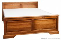 dřevěná dvoulůžková postel z masivního dřeva borovice L13 jandr