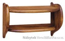 dřevěná závěsná polička z masivního dřeva borovice drewfilip 55