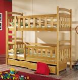 dřevěná patrová postel z masivního dřeva borovice Piotrus meblano