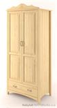 šatní skříň dvojí dvířková Castello ramínková z masivního dřeva borovice drewm CAS-S-02
