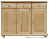 dřevěná kuchyňská skříňka dolní z masivního dřeva borovice KD143 pacyg