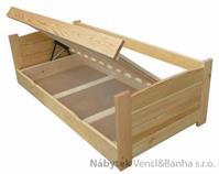 dřevěná jednolůžková postel s úložným prostorem Twardziel chalup