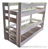 dřevěná patrová postel masivní Saturn chalup