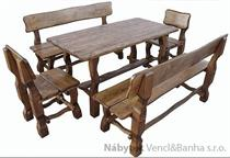 dřevěný zahradní nábytek 1S+2L+2K euromeb 1