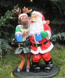 zahradní dekorace z polyesteru Santa s losem Z49 welt