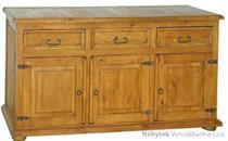 dřevěná rustikální stylová komoda z masivního dřeva borovice Mexicana COM02 euromeb