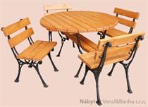 dřevěný zahradní nábytek Kowal 1+4 drewfilip 210