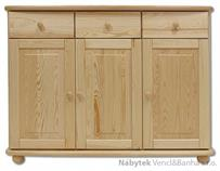 dřevěná kuchyňská skříňka dolní z masivního dřeva borovice KD142 pacyg