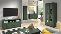 sektorový nábytek, obývací pokoj z dřevotřísky Prowansja zelený gala