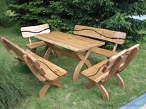 dřevěný zahradní nábytek 2+1 zd3