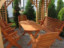 dřevěný zahradní nábytek vencl set 1+4+1 Skladany 2 botodre