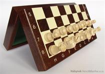 dřevěné šachy tradiční magnetické 140M mad