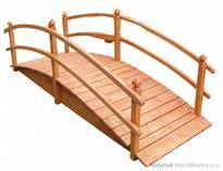 dřevěná zahradní dekorace můstek MP1, lavka 250 cm jandr