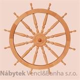 dřevěná závěsná dekorace námořnické kormidelní kolo ster velké z masivního dřeva drewfilip 32