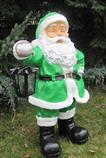 zahradní dekorace z polyesteru Santa Claus zelený Z58 welt