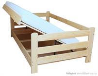 dřevěná jednolůžková postel s úložným prostorem Fenomen chalup