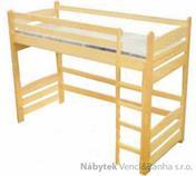 dřevěná patrová postel z masivu, palanda Junior chalup