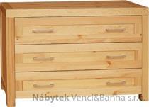 moderní dřevěná komoda, prádelník z masivního dřeva borovice drewfilip DEL SOL 20