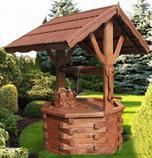 dřevěná zahradní dekorační studna 1 botodre pr.120