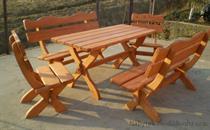 dřevěný zahradní nábytek Ozdobný 1+2+2  drewbo