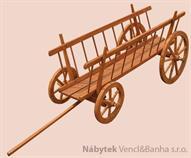 dřevěná dekorace, dřevěný zahradní dekorační vozík drewfilip 74