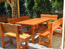 dřevěný zahradní nábytek vencl set 1+2+2 Tomek 2 botodre