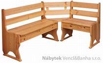 dřevěná rohová jídelní lavice z masivního dřeva borovice drewfilip 3