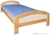 dřevěná dvoulůžková postel z masivního dřeva borovice L4 ratan jandr
