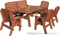 dřevěný zahradní nábytek Jedrzej9 1S+1L+4K  euromeb9